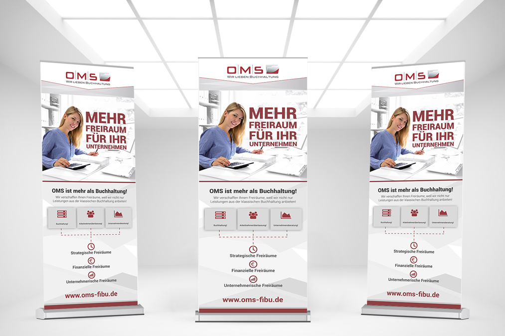 OMS Office Management Service Roll-Up Banner